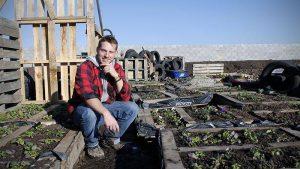 Stuart Muir im Garten