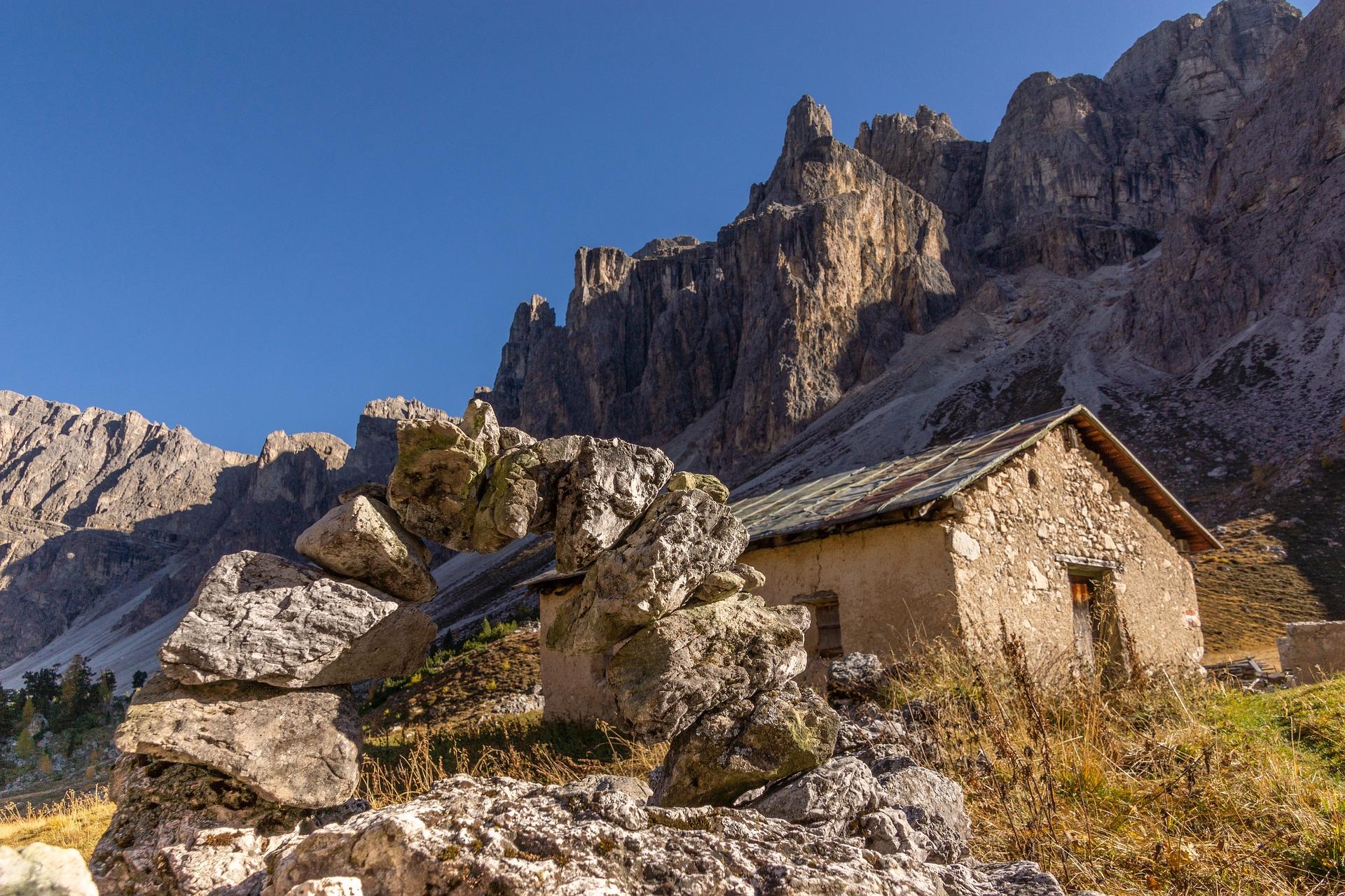 In den Dolomiten.