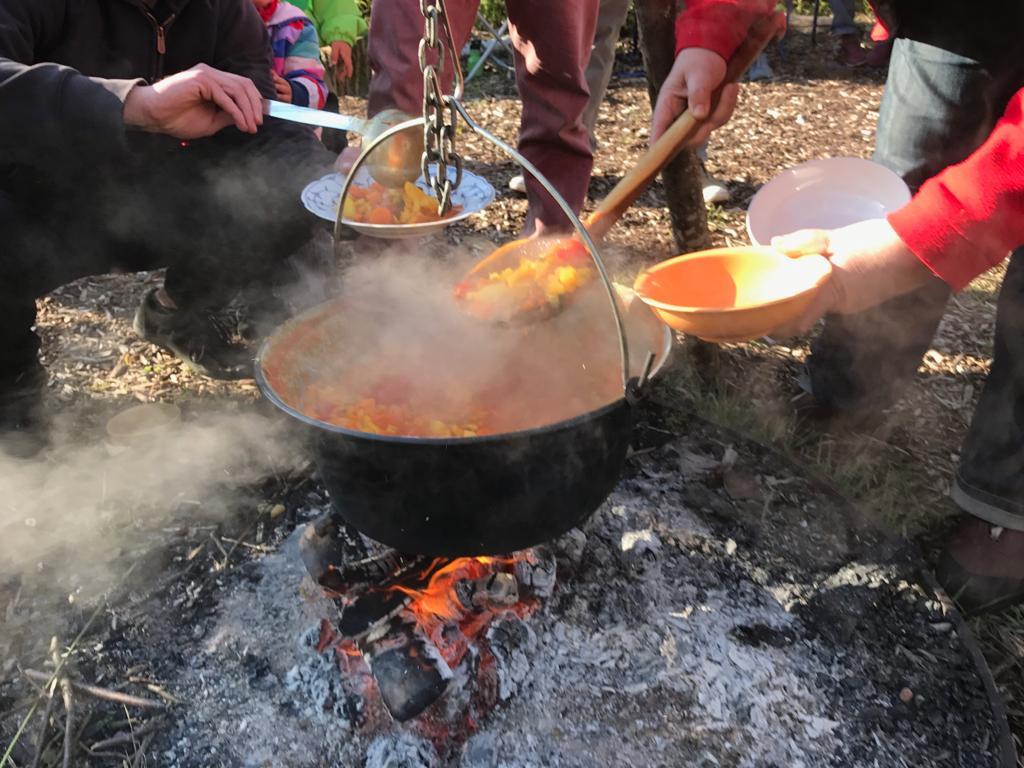 Feuer und Flamme für den Kürbis.