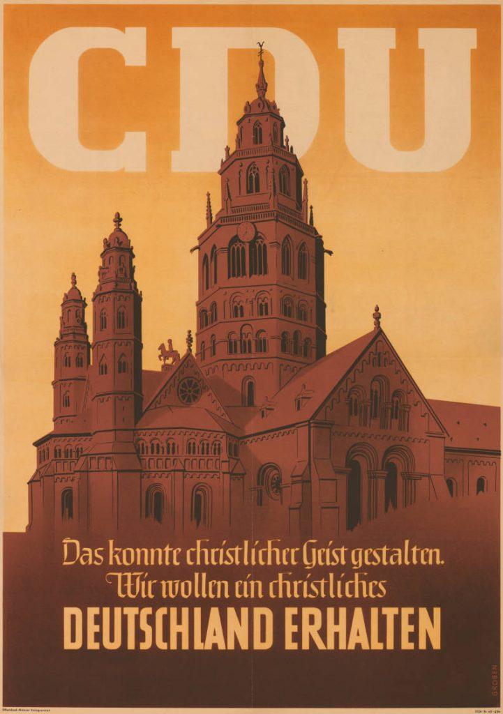 Wahlplakat zur Bundestagswahl 1949. Bild: Archiv für Christlich-Demokratische Politik (ACDP), CC BY-SA 3.0 de.