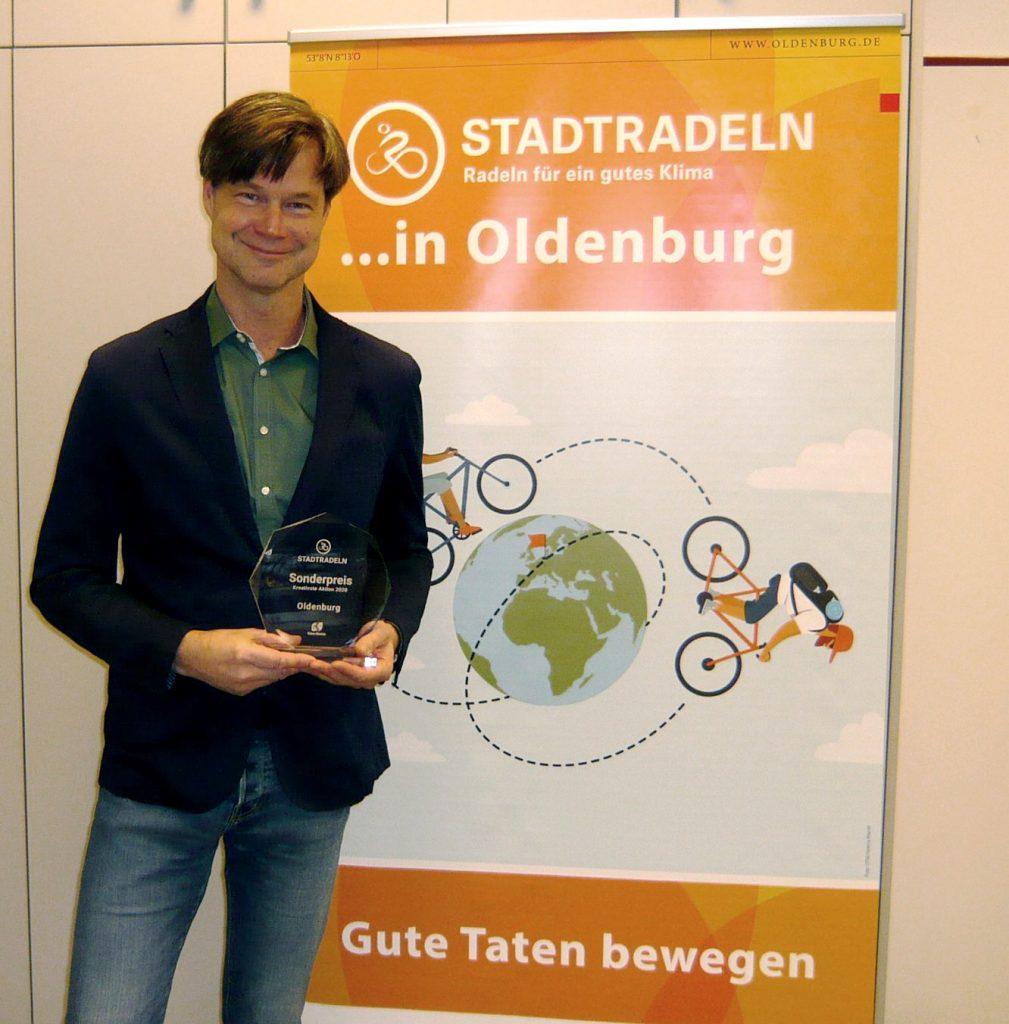 Nahm den Sonderpreis für die Stadt Oldenburg entgegen: Dr. Nobert Korallus, Leiter des Fachdienstes Verkehrsplanung.