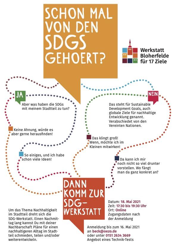 """Flyer """"Schon mal von den SDGs gehört?""""."""